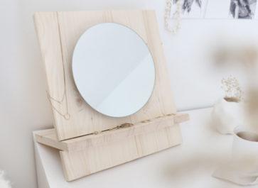 miroir en bois