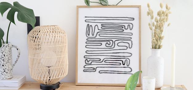 DIY : Affiche minimaliste décorative
